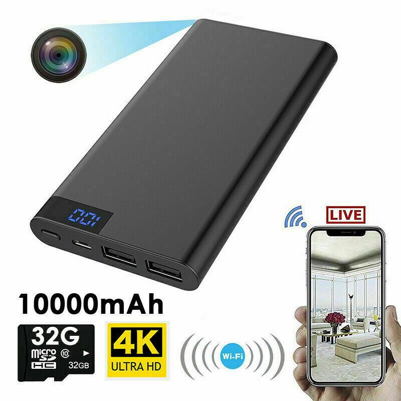 5000/10000mAH Power Bank WIFI Hidden Spy Camera 1080P 4K For