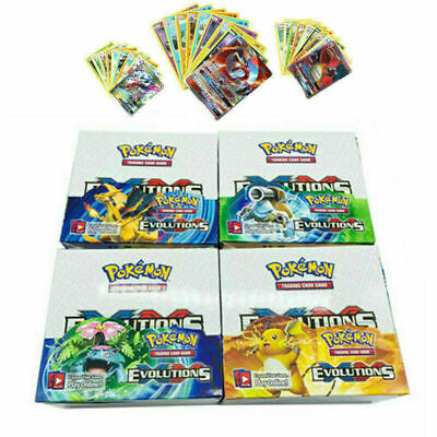324pcs Pokemon Cards GX TCG Booster Box Englisch EVOLUTIONS Karten Desk Games