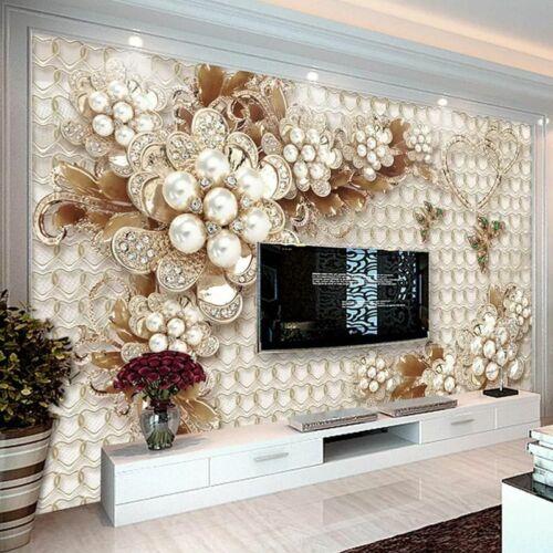 3D Flower Wallpapers Bedroom Living Room Luxury Wall Murals Background Wallpaper