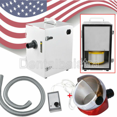UPS Dental Lab Digital Single-Row Dust Collector Vacuum Cleaner + 1*Suction Base