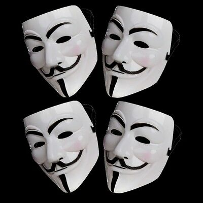 4 X Anonymous Hacker V For Vendetta Spiele Master Gesichtsmaske Kostüm - Anonymous Maske Kostüm