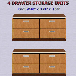 LARGE FOUR DRAWER STORAGE UNITS - HEAVY DUTY CONSTRUCTION