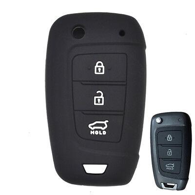 For 2017-Hyundai I30 Solaris Verna Car Silicone Remote Flip Key Fob Cover Case