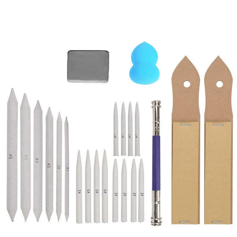 23pcs Blending Paper Stumps Art Drawing Stump Eraser Extender Sketch Tools Kit