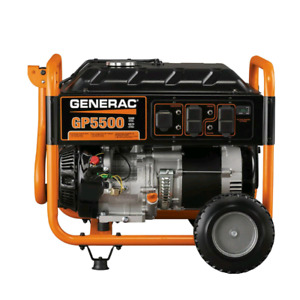BRAND NEW GENERAC GP SERIES 5500W PORTABLE GENERATOR