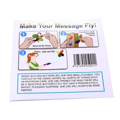 7PCS/SET MAGIC FLYER FLYING BUTTERFLIES TRICKS- BIRTHDAY