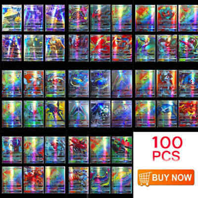 100pcs 95 GX + 5 MEGA Cards Pokemon Card Holo Flash Trading GX Cards USA STOCK