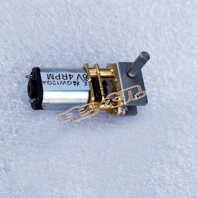 New Gw12ga Worm Gear Motor 6v12v Robot Motors Door Lock Motor Ultra-thin
