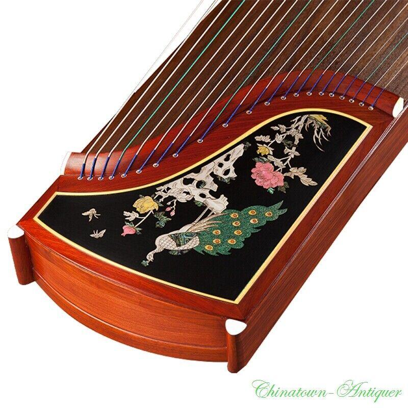 Concert Grade 163cm GuZheng 21-String Chinese Zither Harp Koto 螺钿贝雕工艺 古筝 #2921