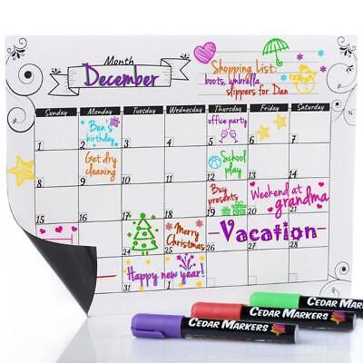 Refrigerator Calendar Magnetic Dry Erase Calendar Whiteboard Calendar