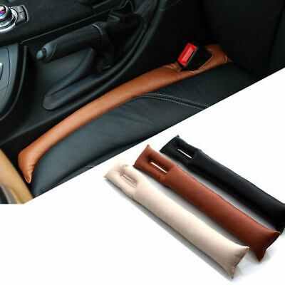 2x Universal Car Sport Seat Hand Brake Gap Filler Pad Leather Decoration Gift LR