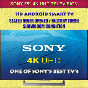 """BRAND NEW FACTORY FRESH 55"""" SONY 4K HD ANDROID SMART TV"""