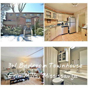 (Open House 3/26 2-4pm) 3+1 Bedroom Townhouse in Mississauga