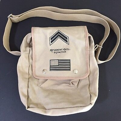 Resident Evil Extinction Army Tote Bag Canvas 2007 Movie Promo Merchandise HTF