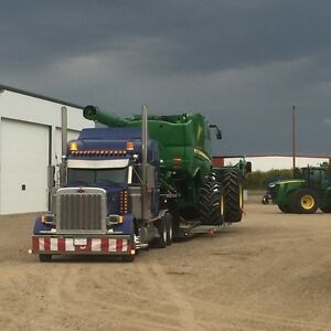 Farm and construction  equipment hauling
