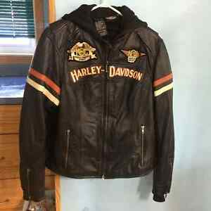 Ladies HD riding leather jacket size XL