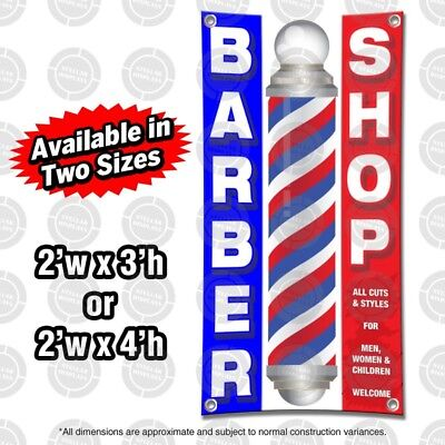 Barber Shop Banner Open Sign Display Window Beauty Hair Nail Spa Salon Boutique