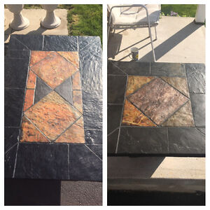 Authentic African Slate Coffe Table and Side Tables