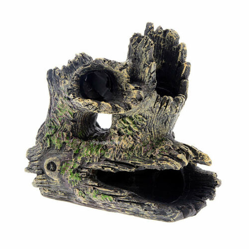 Fish Tank Accessories Decorations Aquarium Resin Driftwood Ornament Cichlid Hide
