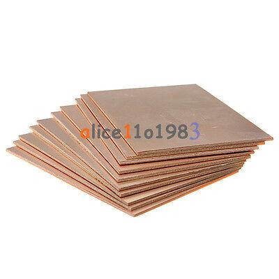 10pcs Pcb Single Side Copper Clad Plate Diy Pcb Laminate Circuit Board 7x10cm