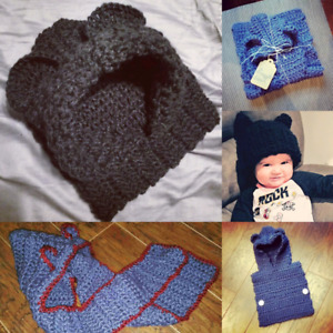 Handmade Crochet Baby Hats and Scarves