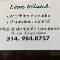 L expert de la machine à coudre Léon Béland 514 984-8757