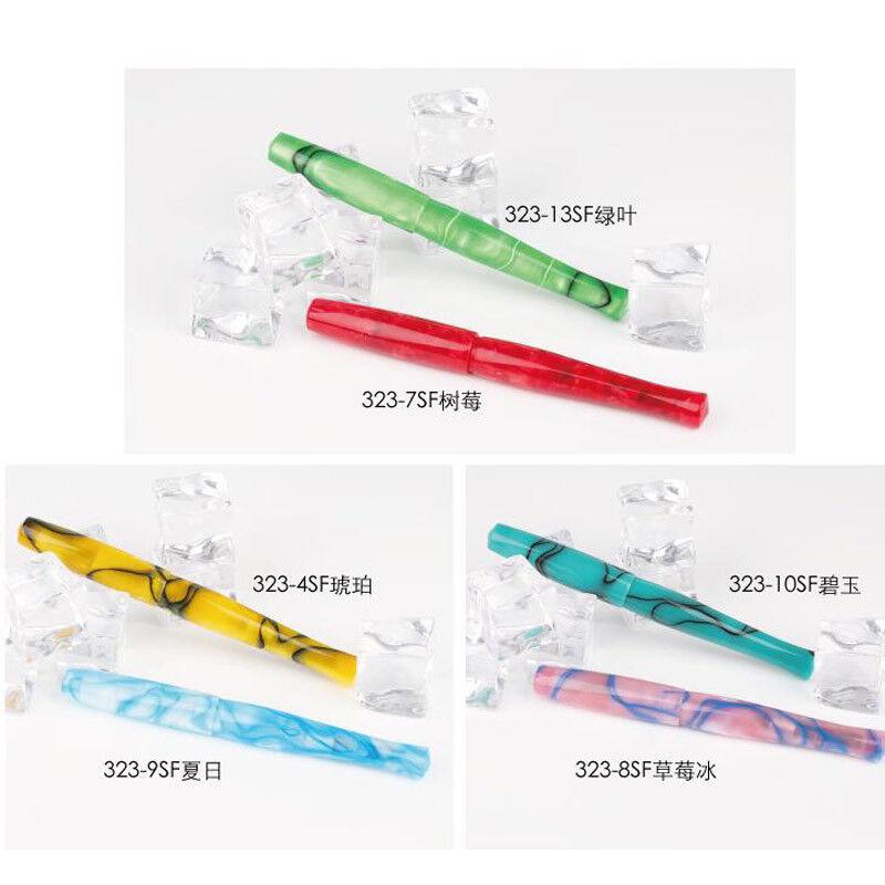 1PC PENBBS 323-43SF Luxury China Fountain Pen screw Fine 0.5mm Nib Writing Gifts