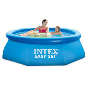 """New Intex 6' x 18"""" Easy Set Above Ground Inflatable Family Swimm"""