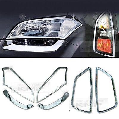 Chrome Head Rear Light Lamp Molding Cover Garnish Trim For KIA 2008-2013 Soul