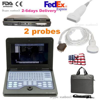 Portable Digital Laptop Ultrasound Scanner Machine Convex Linear 2 Probesusa