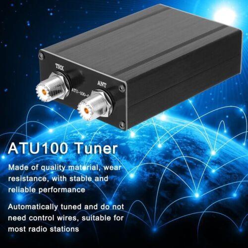 Upgraded ATU-100 1.8-30MHz Automatic Antenna Tuner Aluminum Alloy Shell pe66