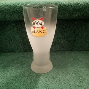 Box of 6 New Kronenbourg 1664 Frosted 16 Ounce Beer Glasses