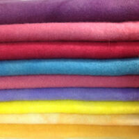 Hand Dyed, 100% Dorr Wool Fabric