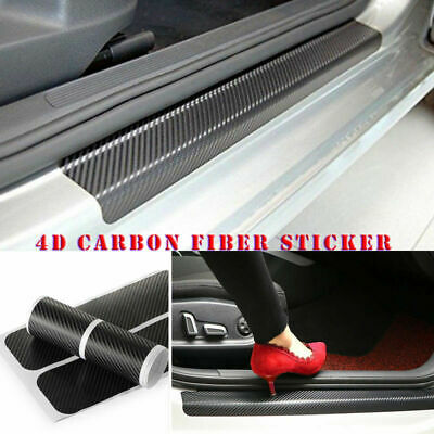 Carbon Fiber Car Scuff Plate Door Sill 4D Decals Panel Anti Scratch Accessories