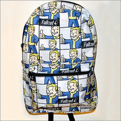 Fallout 4 Vault Boy Bethesda Costume Sublimated Backpack Book Bag OFFICIAL NEW](Fallout Vault Boy Costume)