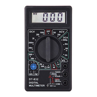 Digital Multimeter Voltage Ohm Meter Test Acdc Current Resistance Tester Buzzer