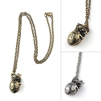 Surgeon Anatomical Human Love Heart Necklace Alloy Pendant Gift Retro