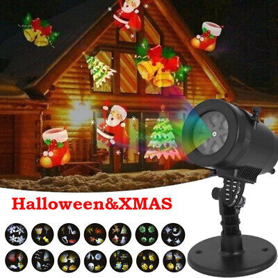 12 LED stars Laser Projector Lights Waterproof Xmas Halloween Landscape Lamp