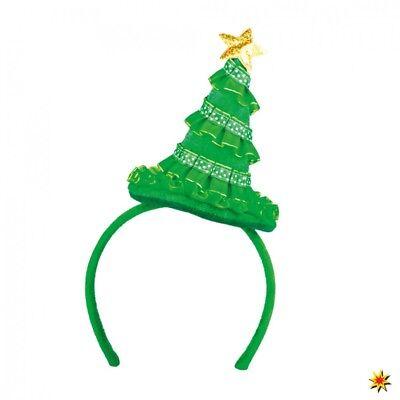 Haarreif Weihnachtsbaum grün Weihnachten Zubehör Spaßhut Fasching ()
