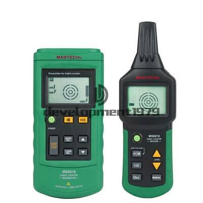 Walfront Cable Locator Ms6818 12v-400v Acdc Underground Wire Cable Locator