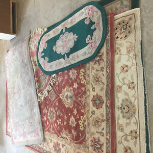 Large selection of Wool Rugs large ones $50 and smaller ones $25