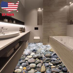 &B 3D Stone Floor DIY Wall Sticker Removable Mural Decal Vinyl Art Room Decor_US