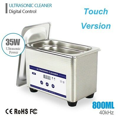 0.8l Ultrasonic Cleaning Machine Cleaner Stainless Steel Industry Timer Silver
