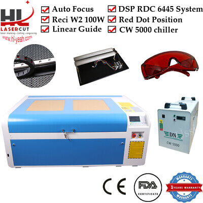 Hl Reci W2 100w Tube Co2 Laser Engraving Machine Laser Cutter Cw5000 Chiller Usa