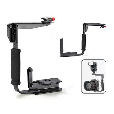 Flash Bracket Grip Flashgun Speedlite Holder Camera DSLR Stand For Canon Nikon