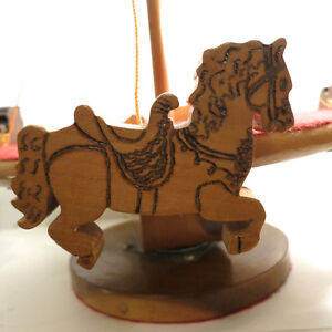 Vintage Toy Merry Go Round Hand Made Wood One of a Kind Folk Art Kitchener / Waterloo Kitchener Area image 4