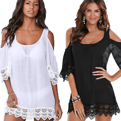 - New Sexy Women Lace Crochet Bathing Suit Bikini Swimwear Cover Up Beach Dress