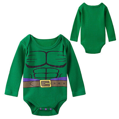 Baby Boy Hulk Costume Bodysuit Newborn Jumpsuit Infant Superhero Playsuit Outfit](Baby Hulk Costumes)