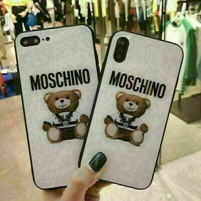 Fashion Mos@chino Bear Glossy Phone Case Cover for iphone 11 7 8 Plus X XS MAX
