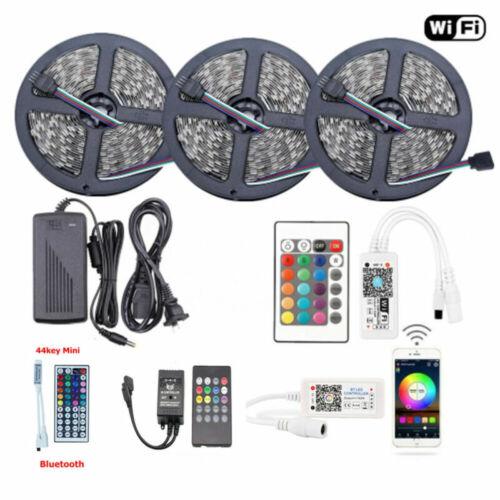 1-10M 5050 RGB SMD Waterproof LED Strip Lights+Bluetooth WiF